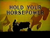 Hold Your Horsepower Cartoon Picture