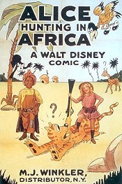 Alice Hunting In Africa Cartoon Picture