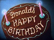 Donald's Happy Birthday Cartoon Picture