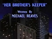 Her Brother's Keeper Free Cartoon Picture