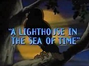 A Lighthouse In The Sea Of Time Free Cartoon Picture