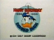 Donald Duck's 50th Birthday Picture To Cartoon