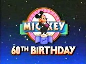 Mickey's 60th Birthday Picture To Cartoon