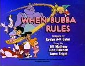 When Bubba Rules Picture To Cartoon