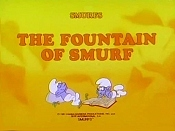 The Fountain Of Smurf Cartoon Picture