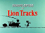 Lion Tracks Cartoon Funny Pictures
