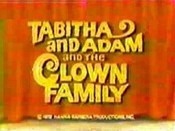 Tabitha And Adam And The Clown Family Picture Of Cartoon