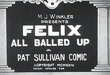 Felix the Cat Theatrical Cartoon Series Logo