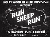 Run, Sheep, Run Cartoon Picture