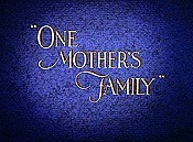 One Mother's Family Cartoon Character Picture
