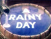 A Rainy Day Cartoon Character Picture