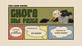 Chore and Peace Cartoon Character Picture