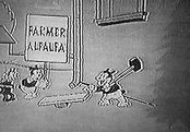 Farmer Al Falfa's Pet Cat Cartoon Picture