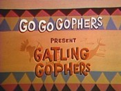 Gatling Gophers Cartoon Funny Pictures
