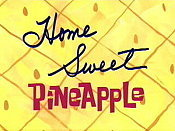 Home Sweet Pineapple Cartoon Picture