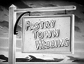 Pastry Town Wedding Picture Into Cartoon