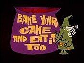 Bake Your Cake And Eat It Too Cartoon Picture