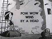 Pow Wow Wins by a Head Free Cartoon Picture