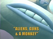 Aliens, Guns & A Monkey Free Cartoon Picture