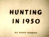 Hunting In 1950 Picture Into Cartoon