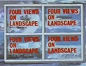 Four Views Of Landscape Cartoon Picture
