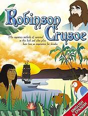 Robinson Crusoe Picture Into Cartoon