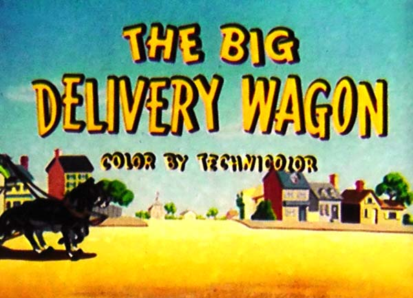 The Big Delivery Wagon Picture Into Cartoon