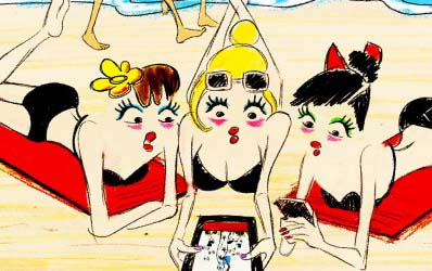 Alber Elbaz Puts on a Show for Lancôme! The Cartoon Pictures