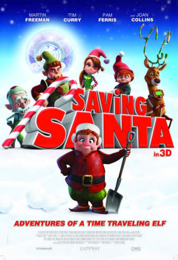 Saving Santa Cartoon Picture