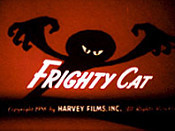 Frighty Cat Free Cartoon Picture