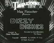 Dizzy Dishes Cartoon Picture