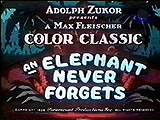 An Elephant Never Forgets Cartoon Character Picture