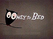 Owly To Bed Free Cartoon Picture