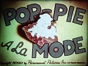 Pop-Pie A La Mode Cartoon Picture