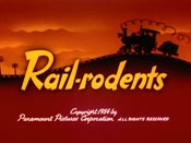 Rail-rodents Free Cartoon Picture