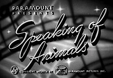 Speaking Of Animals Theatrical Cartoon Series Logo