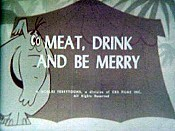 Meat, Drink And Be Merry Cartoon Picture