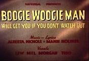 Boogie Woogie Man (Will Get You If You Don't Watch Out) Cartoon Picture
