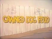 Canned Dog Feud Cartoon Picture