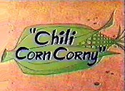 Chili Corn Corny Cartoon Picture