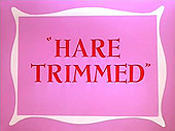 Hare Trimmed Free Cartoon Picture