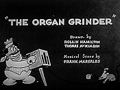 The Organ Grinder Cartoon Picture