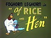 Of Rice And Hen Free Cartoon Picture