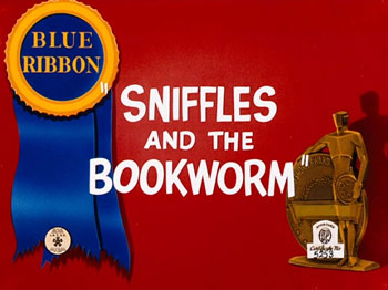 Sniffles And The Bookworm Cartoon Picture