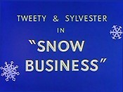 Snow Business Free Cartoon Picture
