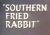 Southern Fried Rabbit Free Cartoon Picture