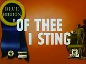 Of Thee I Sting Cartoon Picture