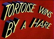 Tortoise Wins By A Hare Cartoon Picture