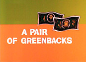 A Pair Of Greenbacks Cartoon Picture
